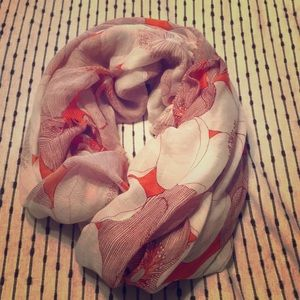 Accessories - Flower Patterned Scarf